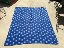 blue fleece blanket stars chiidren's blanket