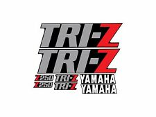 YAMAHA TRI-Z 250 BLACK MODEL FENDER SHROUD DECALS GRAPHICS