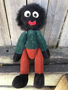 AFRO AMERICAN Black Felt Fabric Rag Doll ~ Politically Incorrect