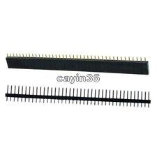 10PCS Hembra & Macho 40pin 2.54mm tira de una sola fila encabezado Socket PCB Conector Reino Unido