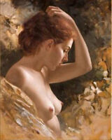 ZWPT507 hand-painted sexy fine nude lady portrait art oil painting on canvas
