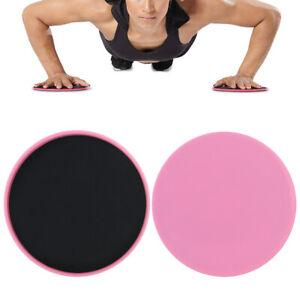 2pcs Yoga Gliding Discs Ab Core Training Exercise Sliding Gym Full Body Workout