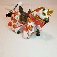 NEW PAPO Knights Horse in Battle Gear Red and Gold Action Figure Accessories