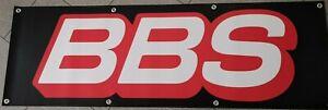 BBS PVC Plane Banner 150x50cm Fahne Felgen