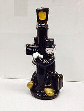 VINTAGE DRUNK HANGING ON LAMP POST DECANTER COLLECTIBLE CERAMIC PORCELAIN