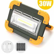 30w COB LED Work Light Floodlight Rechargeable Camping Security Emergency Lamp