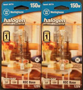 Lot of 2, Westinghouse Lighting 150W RSC Dimmable Halogen Edison Tube Light Bulb