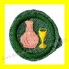 GLASS Girl Scout BADGE 1948-54 Intermediate Jar Goblet Vase Excellent Combine
