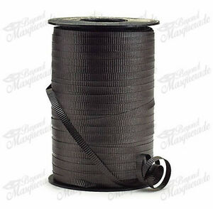 "3/16"" 500 YDS (1500ft) Spool Balloons Wedding Crimped Curling Ribbon - Black"