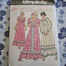 "S14 Vintage 1970s Sewing Pattern Simplicity 6724 Ladies Miss Long Dress B36"""
