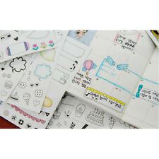 6 Sheets Cartoon Calendar Paper Sticker Scrapbook Calendar Diary Planner DecorLW