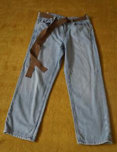 Jeans der Marke Brunello Cucinelli, Größe 38, 100% Cotton,Hellblau,Made in Italy