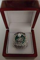Nick Foles - 2017 Philadelphia Eagles Super Bowl Custom Ring WITH Wooden Box