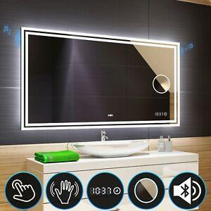 Badspiegel mit LED Beleuchtung Lichtspiegel Badezimmerspiegel Bad Spiegel M57