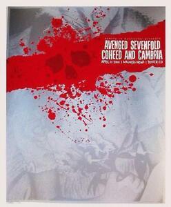 AVENGED SEVENFOLD COHEED CAMBRIA DENVER 2006 CONCERT POSTER SLATER SILKSCREEN