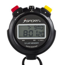 Digital 10 Lap Memory Handheld Stopwatch 2 Line Chronograph Sport Counter Timer