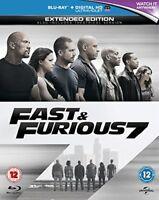 Fast and Furious 7 [Blu-ray] [Region Free] [DVD][Region 2]