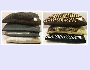 Luxury Large Fur Dog Bed  Washable Zipped Mattress Pillow Cushion Complete Bed