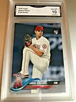 SHOHEI OHTANI ROOKIE CARD 2018 Topps #700 GMA Graded 10 Gem Mint