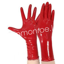 100%Latex Rubber Sexy Red Multi-purpose Short Fingers Gloves Size S-XL