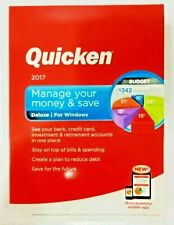 Intuit Quicken Deluxe 2017 For Windows PC - Factory Sealed New -READ DESCRIPTION