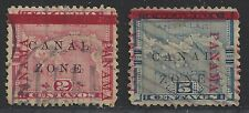 Canal Zone Possession Stamp #11 and #12