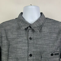 Oakley Dark Gray Mens Dress Button Shirt Size Large L