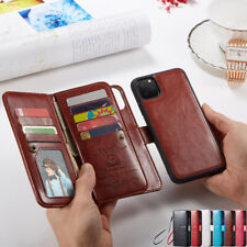 Leather CaseRemovable Magnetic Flip Wallet Cover For iPhone 12/11 Pro Max SE20