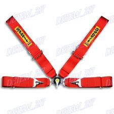 4 Point Red Camlock Quick Release Car Seat Belt Harness Racing Universal 3 New