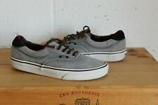 UNISEX GREY CANVAS TARTAN INSOLE VANS OFF THE WALL TRAINERS SIZE 7 USED CON