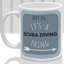 Scuba Diving thing mug, Ideal for any Scuba Diver (Blue)
