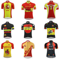 Spain Cycling Jersey Retro Road Pro Clothing MTB Short Sleeve Bike DIY