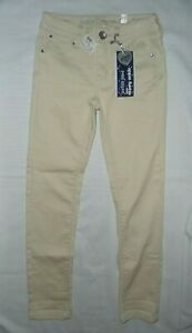 Justice Off White Cream Super Skinny Ankle Jeans Girls Size 12 Slim NEW