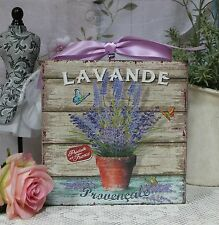 """""""Lavande Provensale"""" Shabby Chic Vintage Country Cottage style Wall Decor. Sign"""