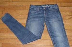 AMERICAN EAGLE Jeans pour Femme W 27 - L 30 Taille Fr 36  (Réf #V015 xxx)