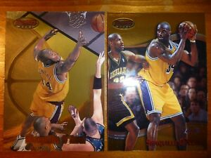LOT OF (2) NBA BOWMANS BEST SHAQUILLE O'NEAL CARDS!