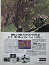 5/1987 PUB HUGHES THERMAL IMAGING LANDSAT-4 SATELLITE NEW-YORK ORIGINAL AD