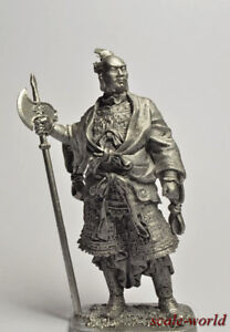Tin soldier, figure. Medieval Chinese General. 54 mm