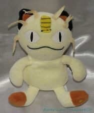 "Retired 1998 Hasbro 7"" Plush Beanie Nintendo Yellow Pokemon Meowth Scratch Cat"