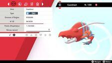 Pokemon Gamblast   shiny 6IV + masterball - Battle Ready - Epée/Bouclier