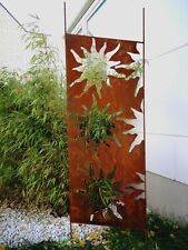 Edelrost Sichtschutz Rost Garten Sichtschutzwand Rost Metall 165*50 cm 030935-3