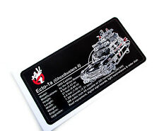 CUSTOM PLAQUE STICKER for ECTO 1a GHOSTBUSTERS MODELS, TOYS, 21108, ETC