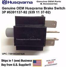 Genuine OEM Husqvarna Brake Switch 3P 5391137-92 539113792