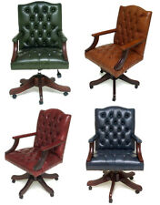 Gainsborough Chesterfield CEO Leather Reproduction Swivel Chair