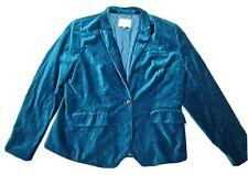 Sportscraft Signature Teal Blue Velvet Womens Jacket Size 18 Plus Size