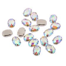 50 x oval 13 18mm ab Klar zum Aufnähen Harz Montees Strass Diamante Edelsteine