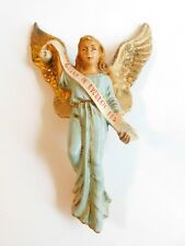 """Antique Hanging Angel Chalk Ware Nativity Piece C1940's  Made In Italy 6"""""""