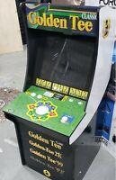 Arcade1UP Golden Tee Arcade Machine with Riser 4 FT [FRONT PANEL DAMAGED] ™