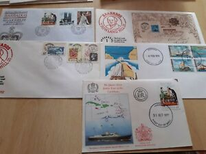 BARBADOS SELECTION OF FIRST DAY COVERS(5)