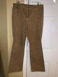 Covington Brown Suede Pants - Size 14